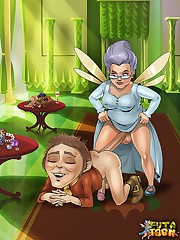 The Fairy futanari Godmother from Shrek toon series