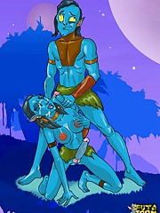 Futanari Neytiri from Avatar getting ass fucked hard